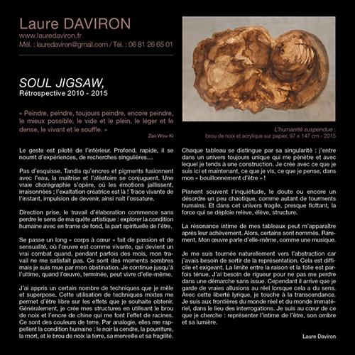 Catalogue exposition Laure Daviron à l'AMAC - Chamalière