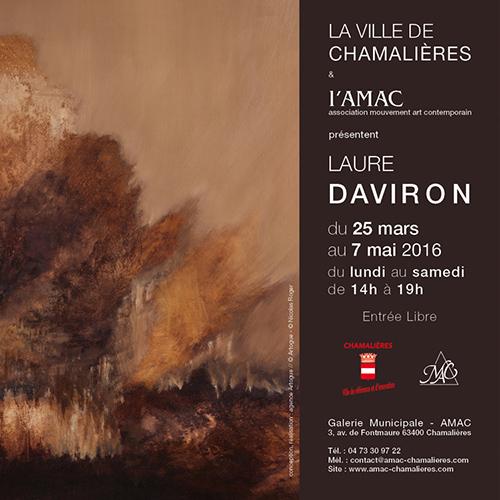 Catalogue exposition Laure Daviron à l'AMAC - Chamalières